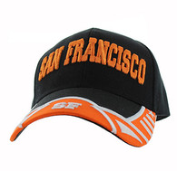 VM421 San Francisco City Velcro Cap (Black & Orange)