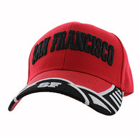 VM421 San Francisco City Velcro Cap (Red & Black)