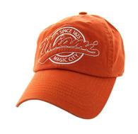 BM701 Miami City Washed Cotton Polo Cap (Solid Texas Orange)