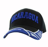 VM421 Nicaragua Country Velcro Cap (Black & Royal)