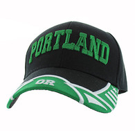 VM421 Portland City Velcro Cap (Black & Green)