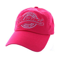 BM701 Miami City Washed Cotton Polo Cap (Solid Hot Pink)