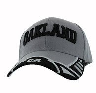 VM421 Oakland City Velcro Cap (Light Grey  & Black)
