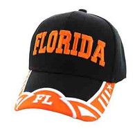 VM421 Florida State Velcro Cap (Black & Orange)