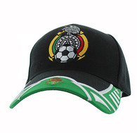 VM421 Mexico Soccer Velcro Cap (Black & Kelly Green)