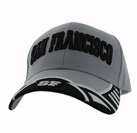 VM421 San Francisco City Velcro Cap (Light Grey & Black)