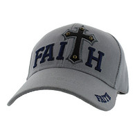 VM511 Faith Velcro Cap (Solid Light Grey)