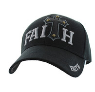 VM511 Faith Velcro Cap (Solid Black)