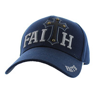 VM511 Faith Velcro Cap (Solid Navy)
