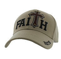 VM511 Faith Velcro Cap (Solid Khaki)