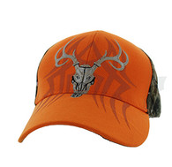 VM648 Hunting Velcro Cap (Orange & Hunting Camo)