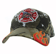 VM440 Fire Logo with Truck Velcro Cap (Solid Hunting Camo)