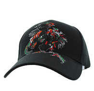 VM240 Cock Fight Ball Velcro Cap (Solid Black)