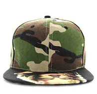 SM320 Marilyn Monroe Two Tone Snapback Cap (Military Camo & Black)
