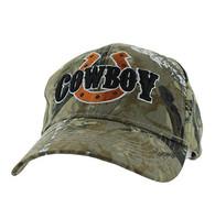 VM002 Cowboy Velcro Cap (Solid Hunting Camo)