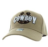 VM002 Cowboy Velcro Cap (Solid Khaki)