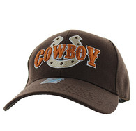 VM002 Cowboy Velcro Cap (Solid Brown)