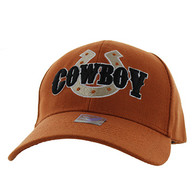 VM002 Cowboy Velcro Cap (Solid Texas Orange)
