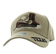 VM382 Texas Velcro Cap (Solid Khaki)