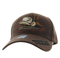 VM382 Texas Velcro Cap (Solid Brown)