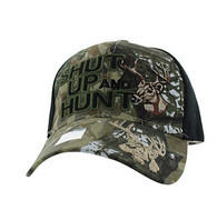 VM991 Shut Up and Hunt Velcro Cap (Hunting Camo & Black)
