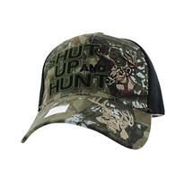 VM991 Shut Up and Hunt Velcro Cap (Hunting Camo & Black)