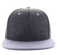 SP5419 Blank Cotton Snapback (Dark Grey & Light Grey)