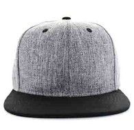 SP5419 Blank Cotton Snapback (Light Grey & Black)