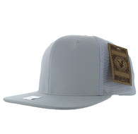 SP029 Plain Cotton Mesh Trucker Cap (Solid White)