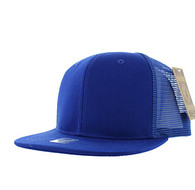 SP029 Plain Cotton Mesh Trucker Cap (Solid Royal)