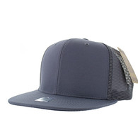 SP029 Plain Cotton Mesh Trucker Cap (Solid Light Grey)