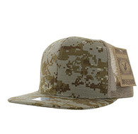 SP029 Plain Cotton Mesh Trucker Cap (Digital Camo)