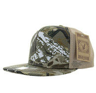 SP029 Plain Cotton Mesh Trucker Cap (Hunting Camo)