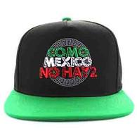 SM605 Mexico Cotton Snapback Cap (Black & Kelly Green)