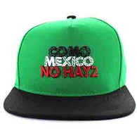 SM605 Mexico Cotton Snapback Cap (Kelly Green & Black)