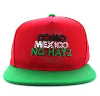 SM605 Mexico Cotton Snapback Cap (Red & Kelly Green)