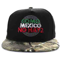 SM605 Mexico Cotton Snapback Cap (Black & Hunting Camo)