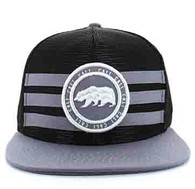 SM686 California Bear Mesh Snapback (Black & Light Grey)