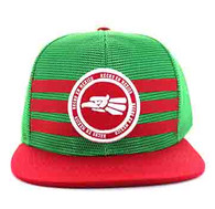 SM686 Mexico Mesh Snapback Cap (Kelly Green & Red)