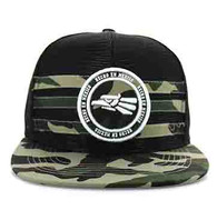 SM686 Mexico Mesh Snapback Cap (Black & Military Camo)