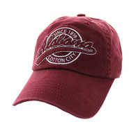 BM701 Alabama State Washed Cotton Polo Cap (Solid Burgundy)