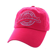 BM701 Alabama State Washed Cotton Polo Cap (Solid Hot Pink)