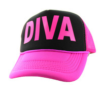 SM740 Diva Trucker Mesh Cap (Black & Hot Pink)