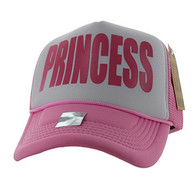 SM740 Princess Trucker Mesh Cap (White & Light Pink)