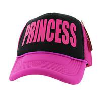 SM740 Princess Trucker Mesh Cap (Black & Hot Pink)