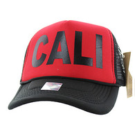 SM740 Cali Trucker Mesh Cap (Red & Black)