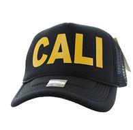 SM740 Cali Trucker Mesh Cap (Black & Black)