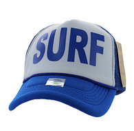 SM740 Surf Trucker Mesh Cap (White & Royal)