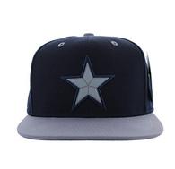 SM702 Big Star Cotton Snapback (Navy & Light Grey)