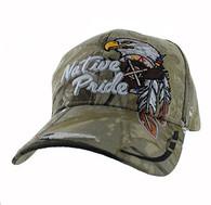 VM291 Native Pride Eagle Velcro Cap (Solid Hunting Camo)